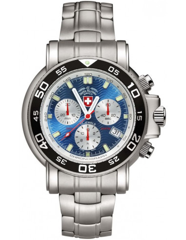 CX Swiss Military 2467 Navy Diver 500 chronograph watch