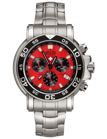 CX Swiss Military 2468 Navy Diver 500 chronograph watch