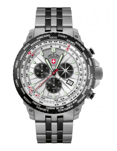 CX Swiss Military 2475 Hurricane Worldtimer watch