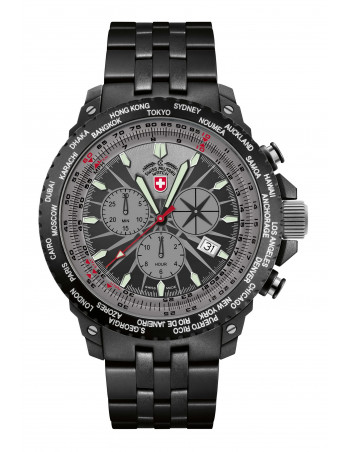 CX Swiss Military 2476 Hurricane Worldtimer watch