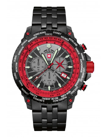 CX Swiss Military 2477 Hurricane Worldtimer watch