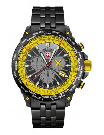 CX Swiss Military 2478 Hurricane Worldtimer watch