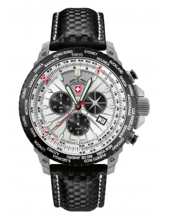 CX Swiss Military 24751 Hurricane Worldtimer watch