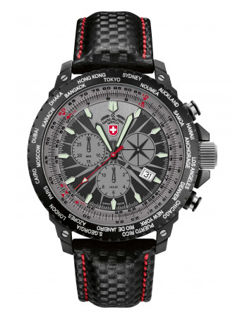 CX Swiss Military 24761 Hurricane Worldtimer watch