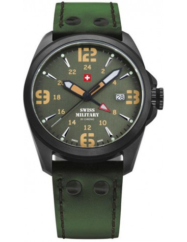 Swiss Military by CHRONO 29000BPL-12LGR Dual Time Watch