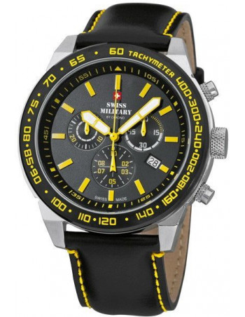 Swiss Military by CHRONO 20095ST-1LBK-Y Speed Chronograph Watch