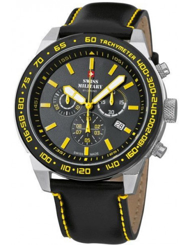Swiss Military by CHRONO 20095ST-1LBK-Y Speed Chronograph Watch